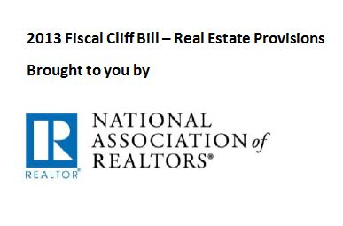 Pensacola Real Estate on Detailing The Real Estate Provisions In The Recent Fiscal Cliff Bill